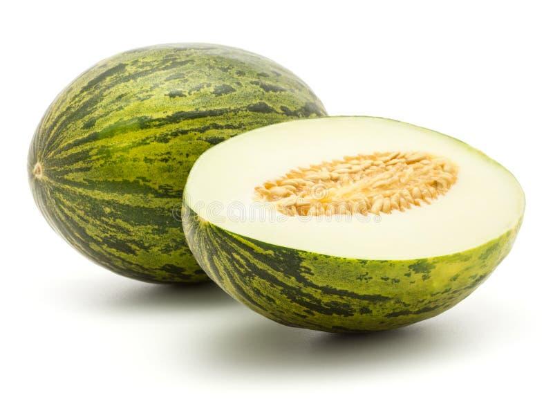 Santa Claus-Melone lokalisiert auf Weiß stockfoto
