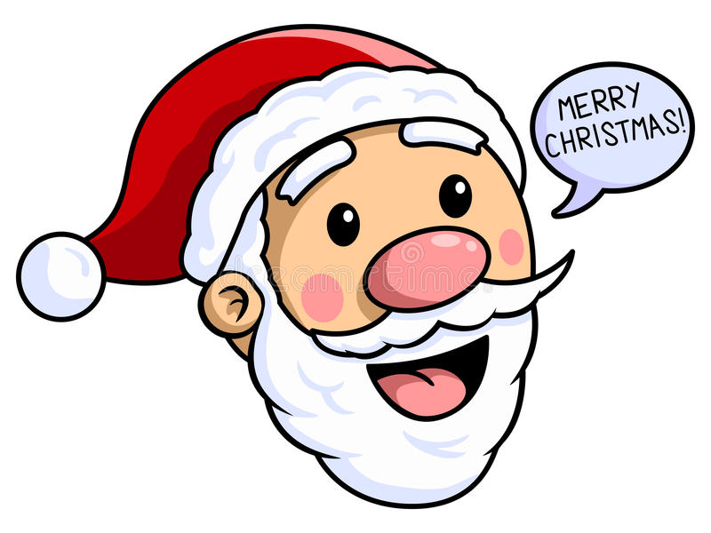 Santa Claus Merry Christmas illustration stock