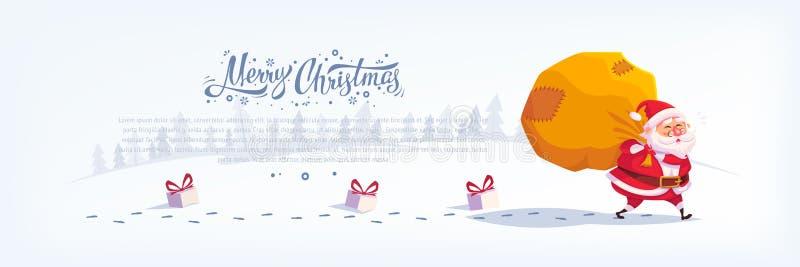 Santa Claus Merry Christmas-Vektorkarikaturillustration vektor abbildung