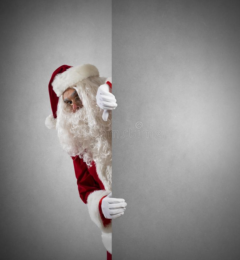 Santa Claus With Message Royalty Free Stock Photos