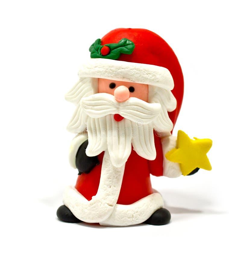 Santa Claus met ster op witte achtergrond royalty-vrije stock afbeeldingen