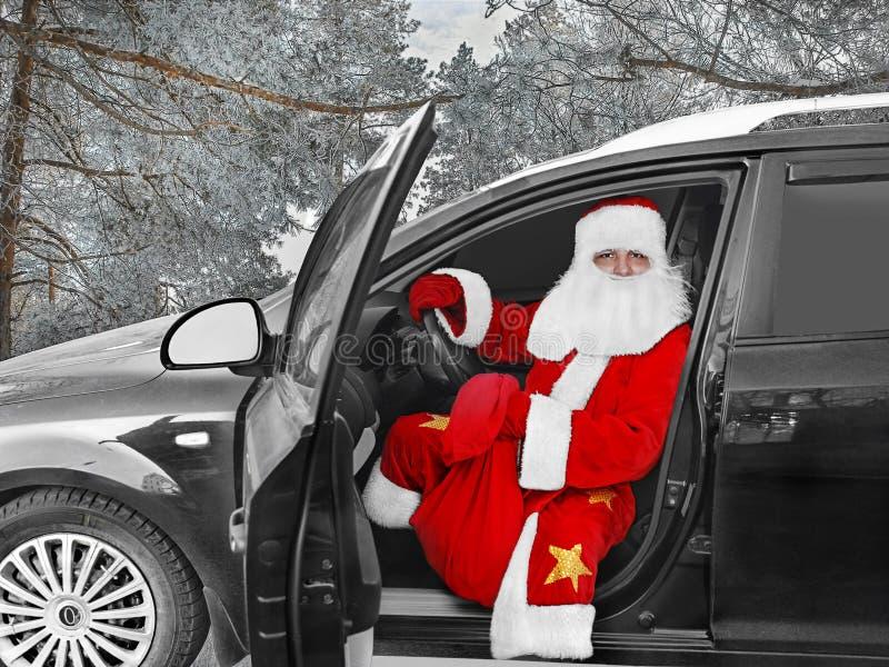 Santa Claus moderne - le conducteur photos libres de droits