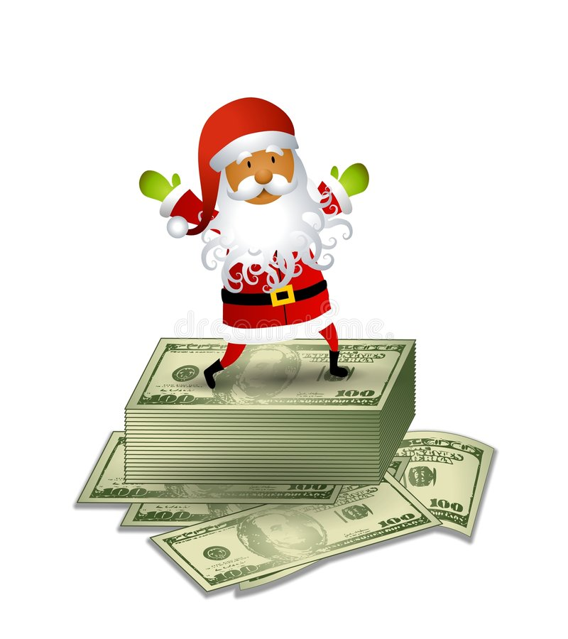 Free Santa Claus Money Cash 2 Royalty Free Stock Photos - 7171688