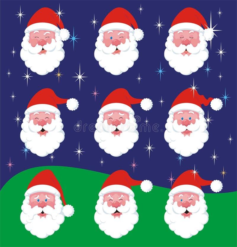 Santa Claus Mood Variations vektor illustrationer