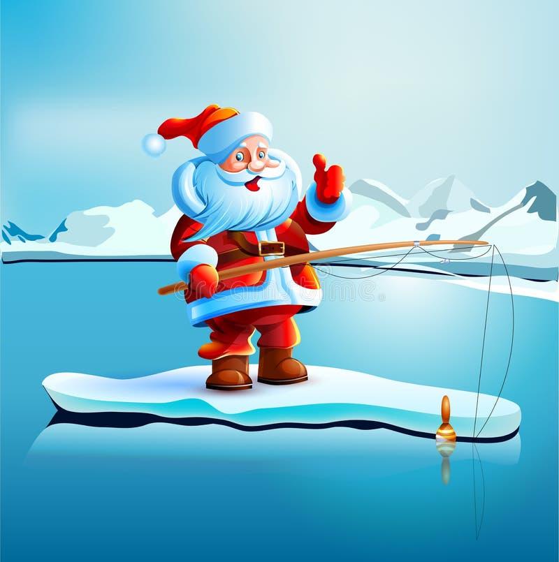 Santa Claus mostra i pollici su illustrazione di stock