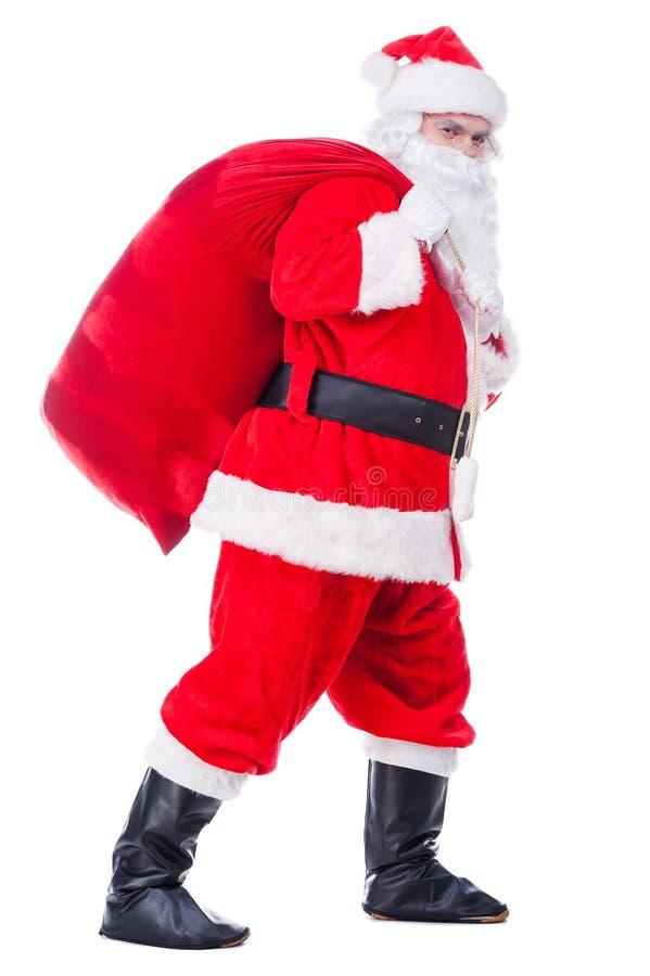 Santa Claus in movimento fotografie stock libere da diritti