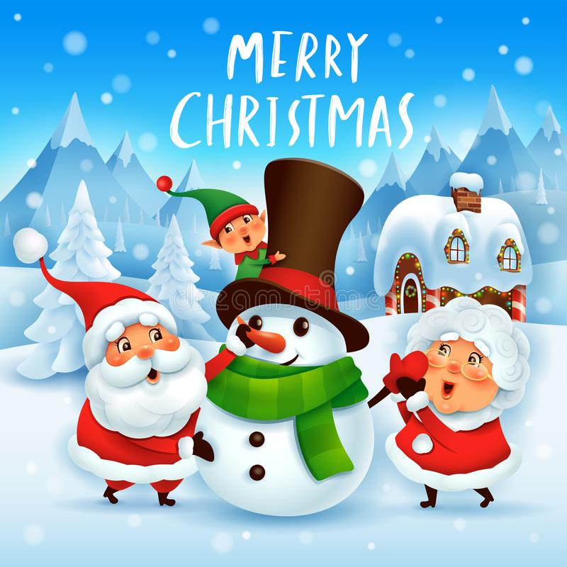 Love Mr Mrs Snowman Family Cardinal Stock Vector (Royalty Free) 317360720