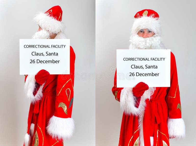 Santa Claus Mugshot stock afbeelding