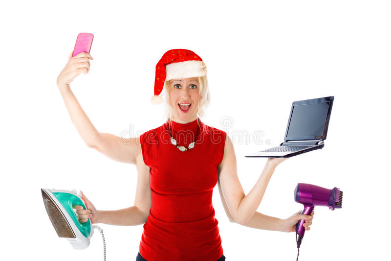 Santa Claus multitâche photos stock