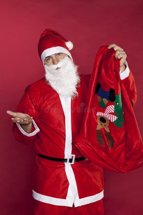 Santa Claus n'a aucun cadeau images stock