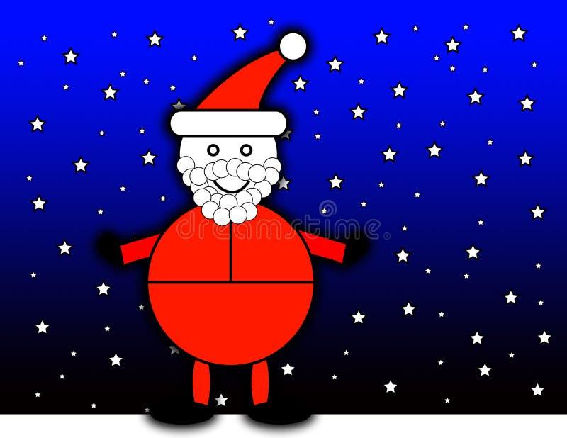 Santa Claus At Night vector illustration