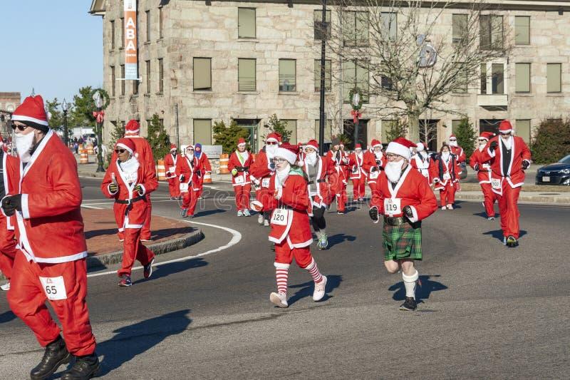 Santa Claus no kilt imagem de stock royalty free