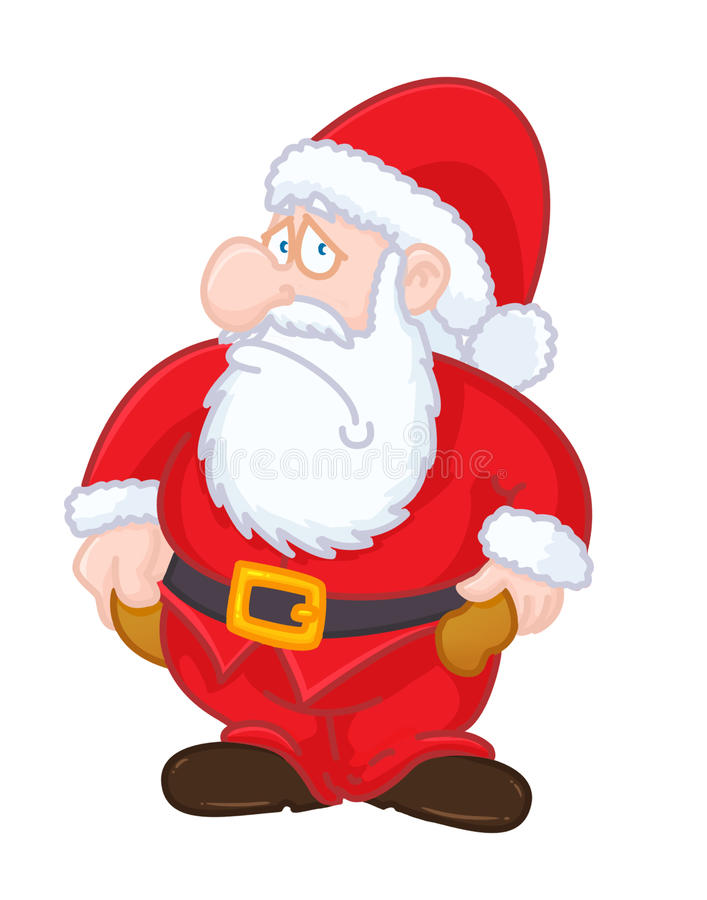 Santa Claus With No Money Christmas Card Stock Photo - Image: 27639740
