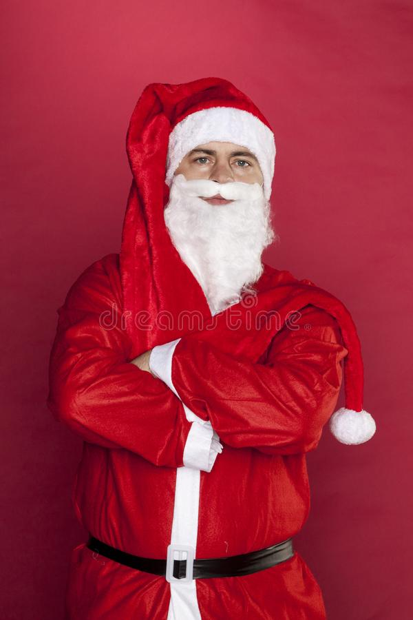 Santa Claus non vuole lavorare fotografia stock libera da diritti