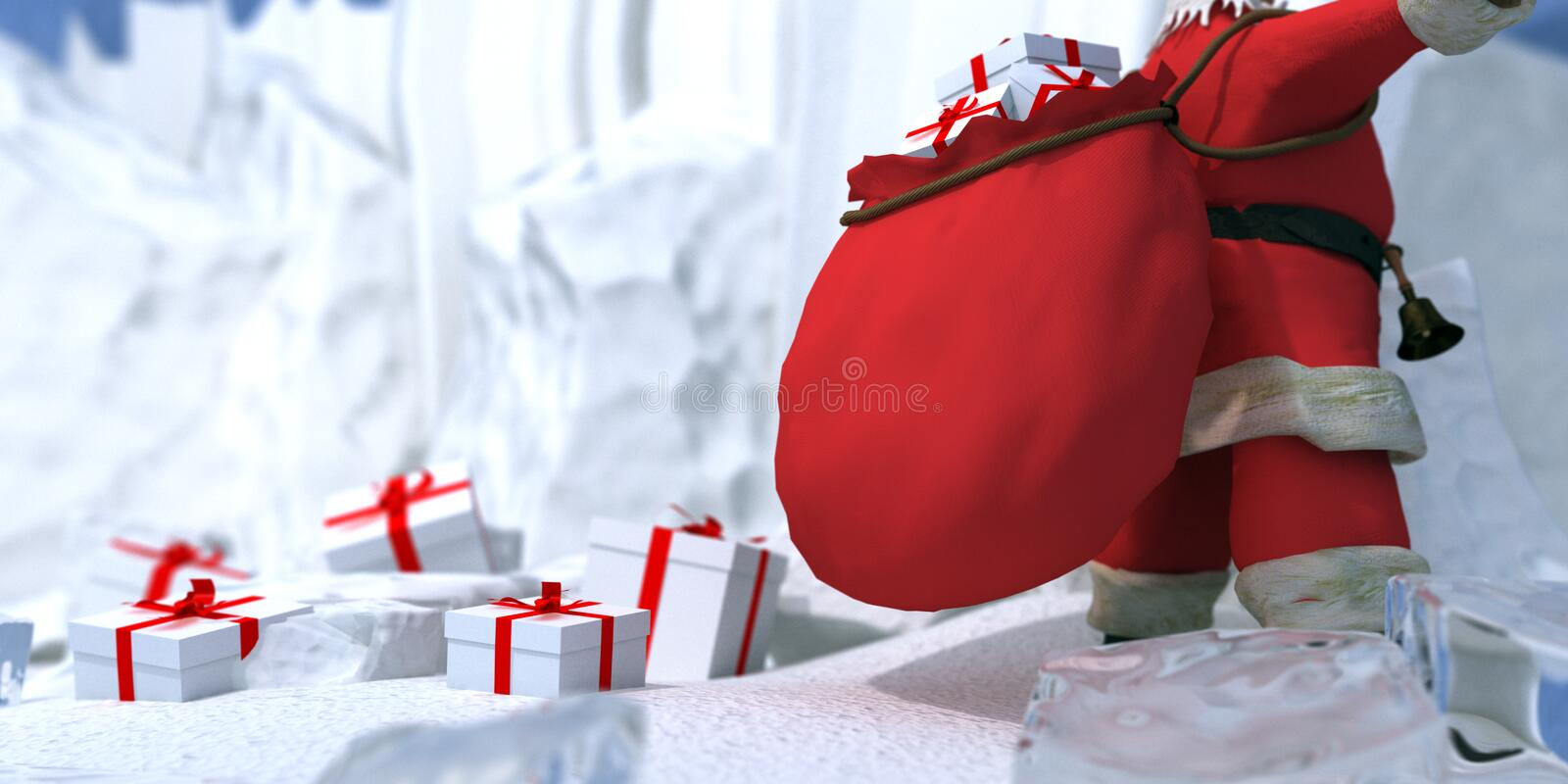 Santa Claus In The North Pole Royalty Free Stock Images