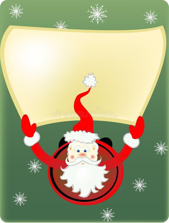 Santa Claus och snöflingor arkivfoto