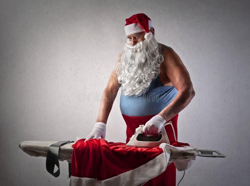 Santa Claus ocupada imagens de stock