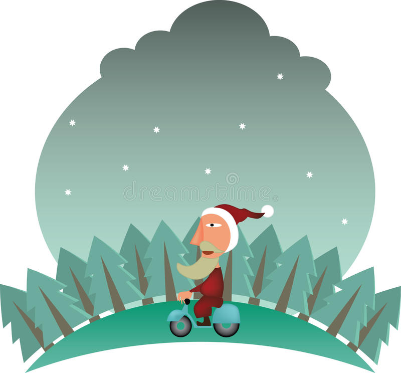 Free Santa Claus On Bike Stock Images - 21993594