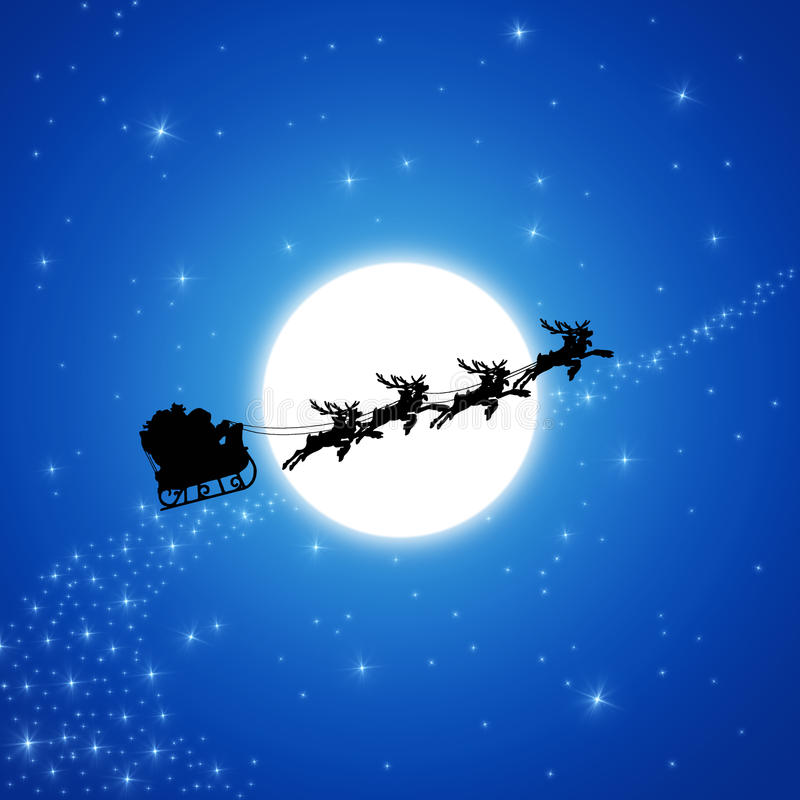 Free Santa Claus On Sledge Royalty Free Stock Images - 22160639