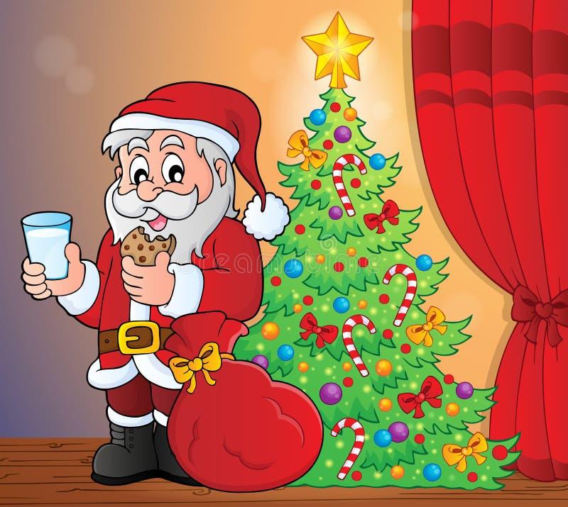 Santa Claus-ontbijtthema 5 royalty-vrije illustratie