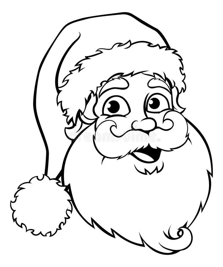 Santa Claus Outline royalty-vrije illustratie