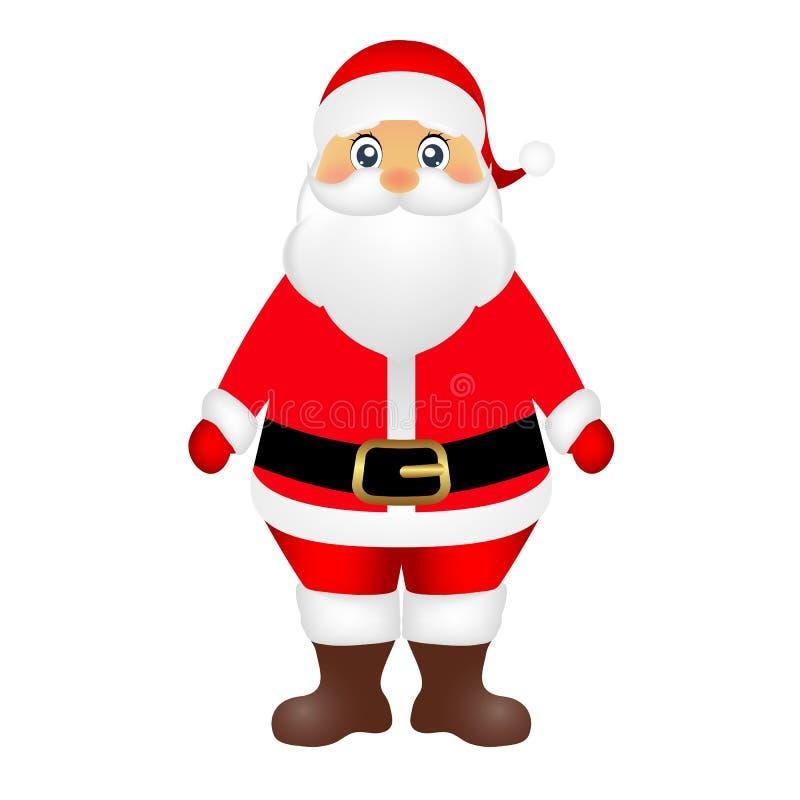 Santa Claus på den vita bakgrundsvektorn stock illustrationer