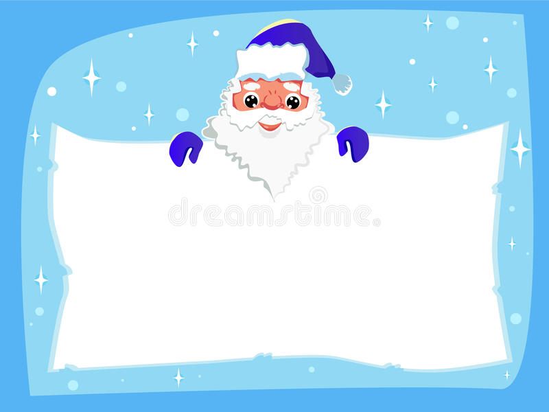 Santa Claus with a paper in his hand. royalty free illustration