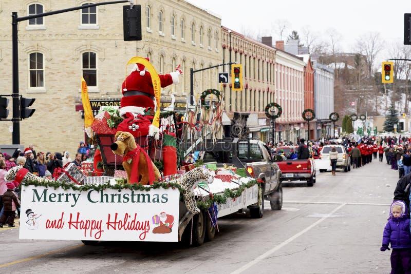 Santa Claus Parade - Havenhoop, Ontario royalty-vrije stock foto's