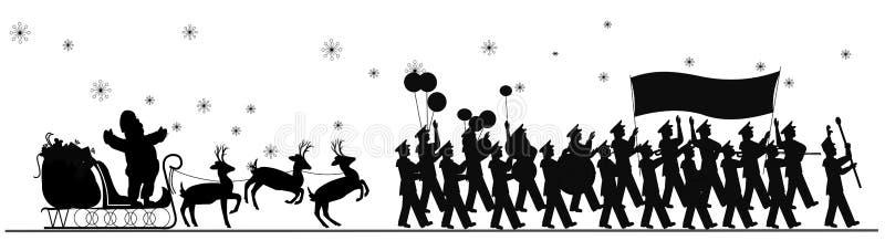 Santa Claus parade royalty free illustration