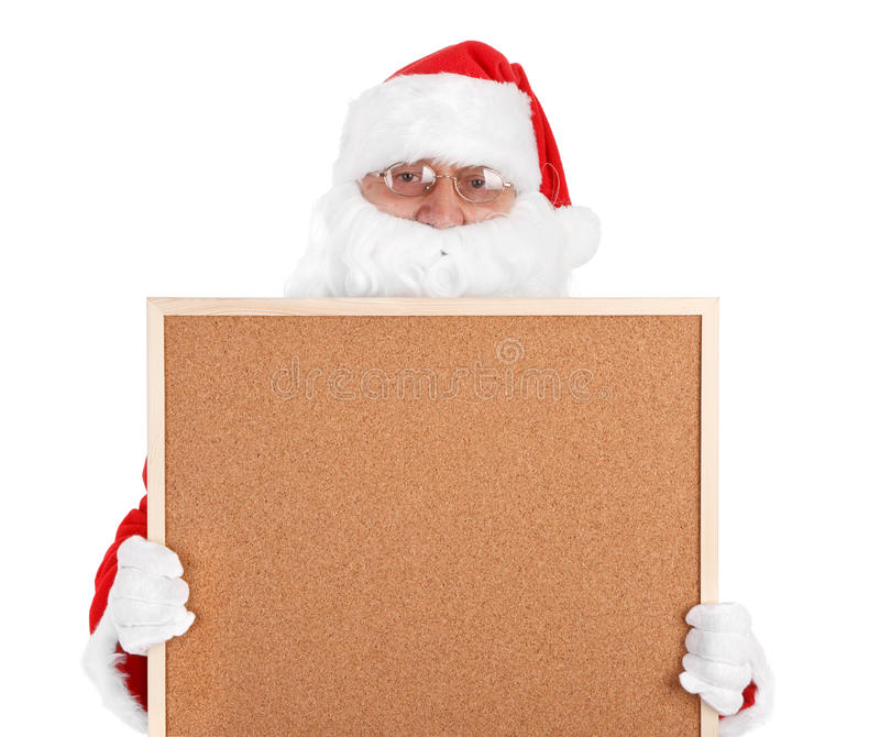 Download Santa Claus And Part Of Empty Bulletin Board Stock Image - Image: 17490695