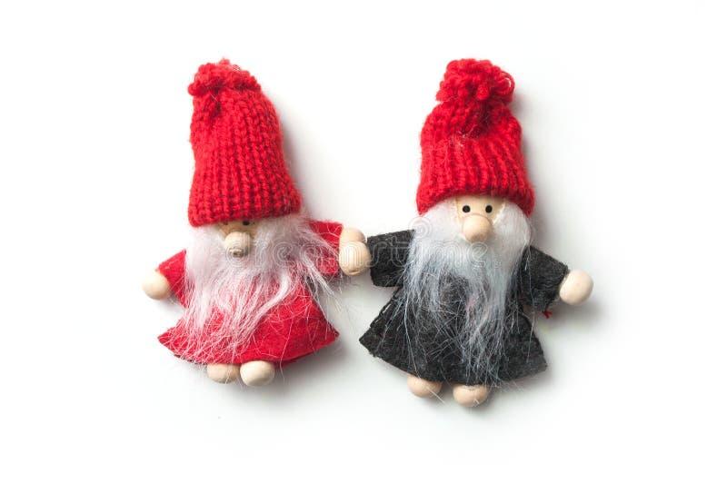 Santa Claus pequena no fundo branco imagem de stock