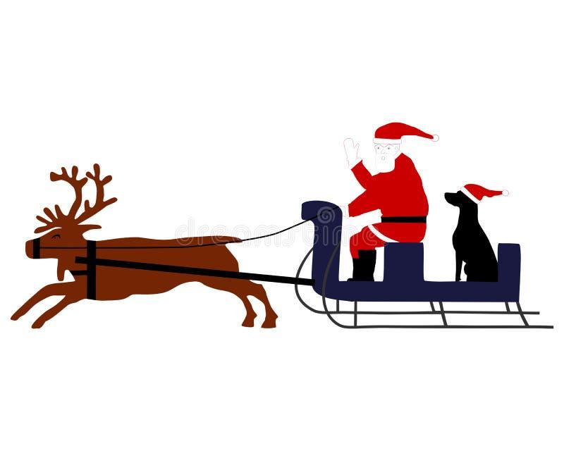 Santa claus pies ilustracja wektor