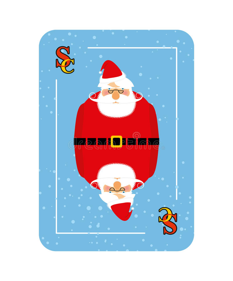 Santa Claus playing card. New concept of playing cards. royalty free illustration