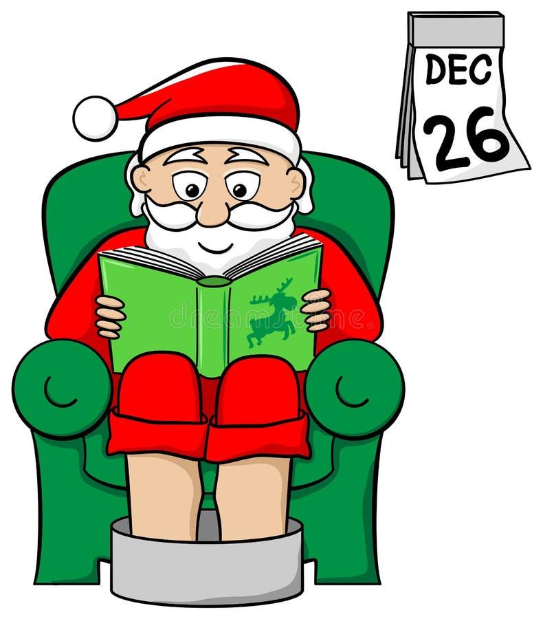 Santa Claus po pracy ilustracji