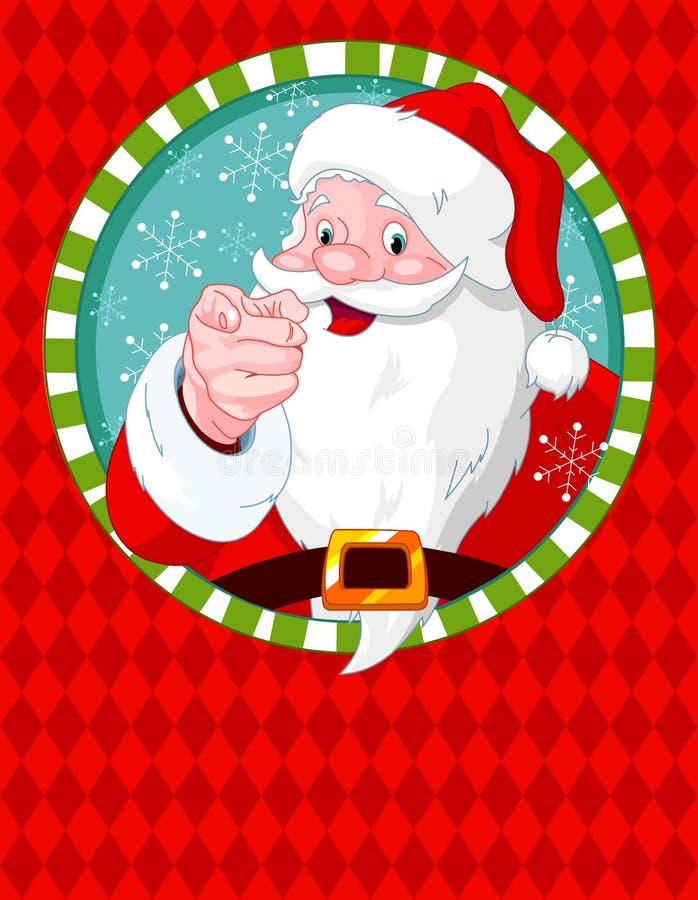 Santa Claus Pointing Stock Photo