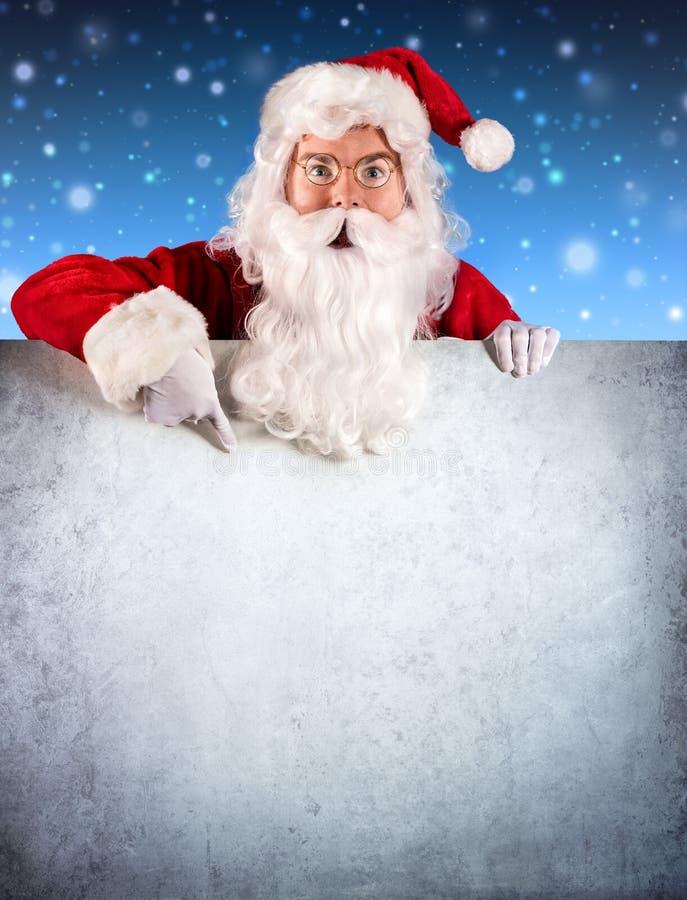 Santa Claus Pointing fotografia de stock