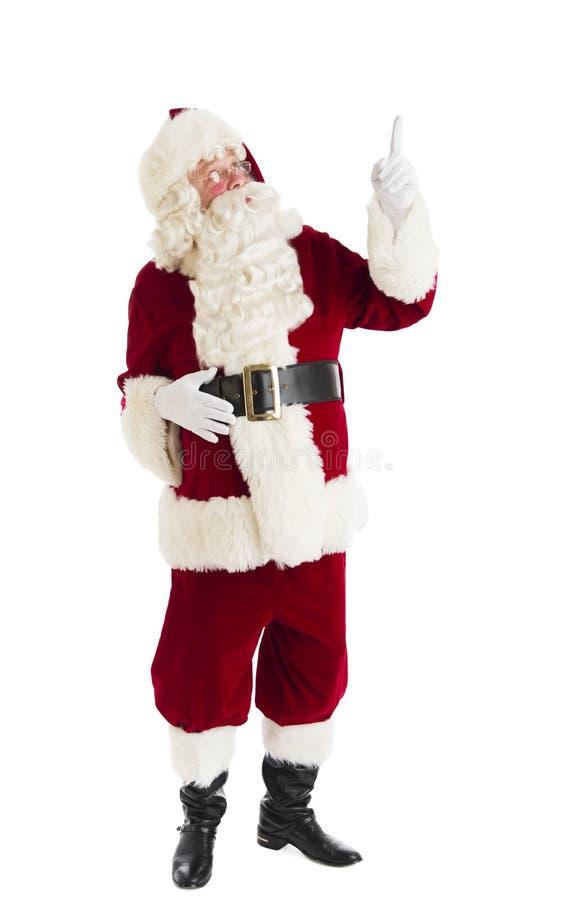 Santa Claus Pointing Up fotografia stock
