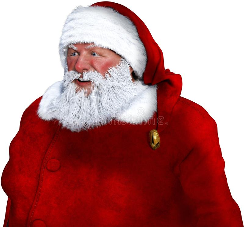 Santa Claus Portrait Closeup Isolated imagens de stock royalty free