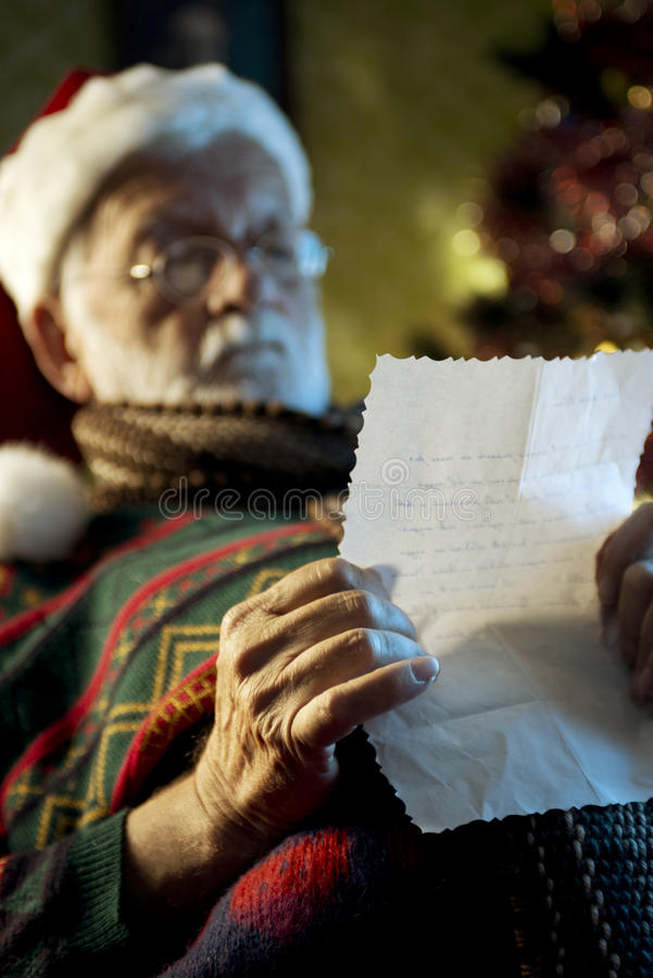 Download Santa Claus stock photo. Image of hand, letter, decoration - 34583182