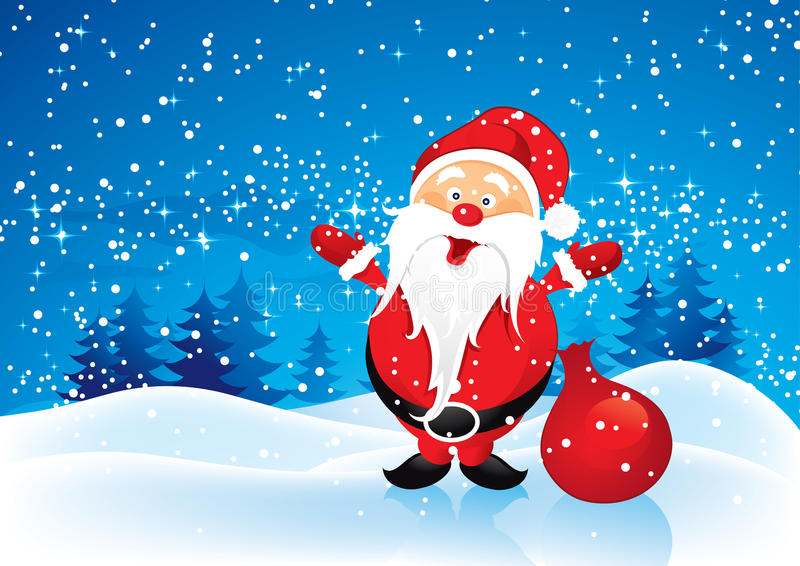 Santa Claus With Presents Stock Photo