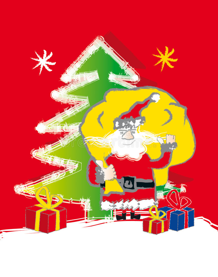 Santa claus - presents royalty free illustration