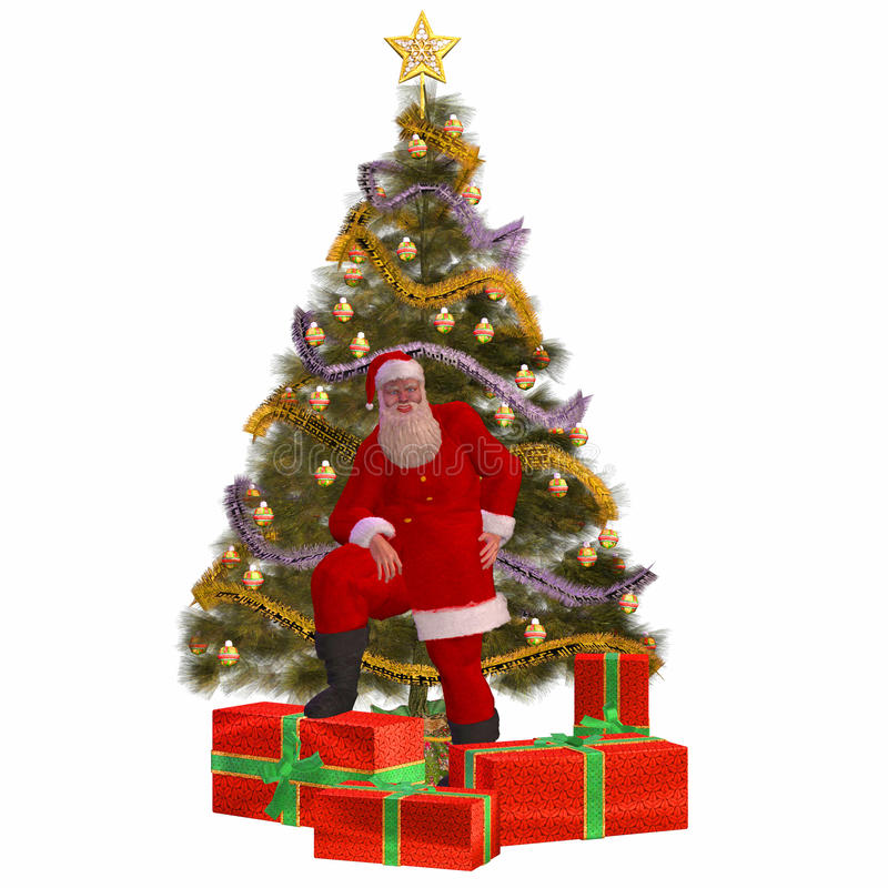 Santa Claus with presents and