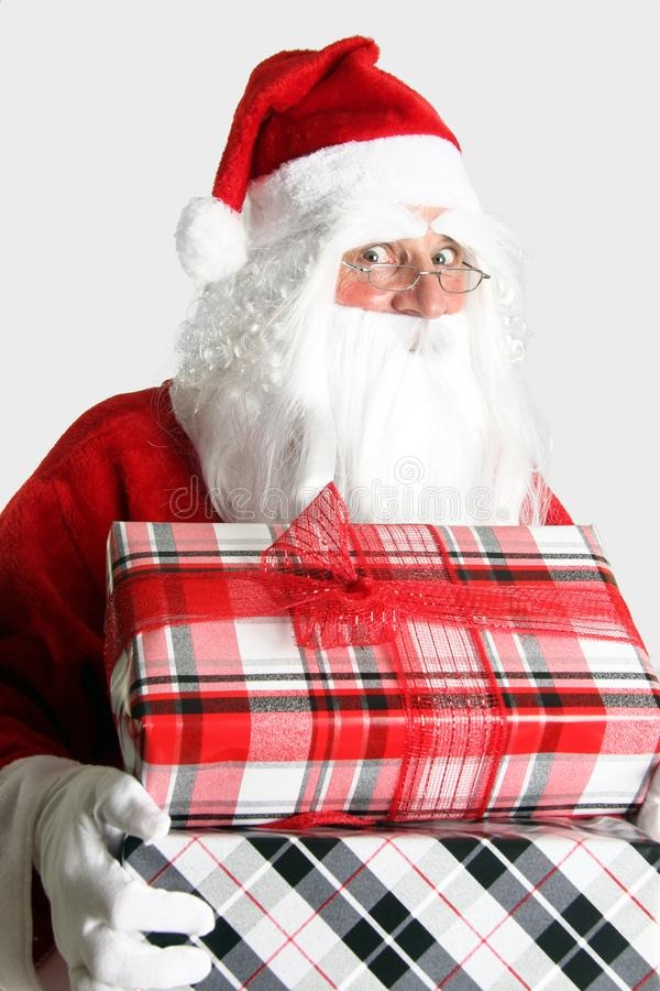 Santa Claus with presents royalty free stock image
