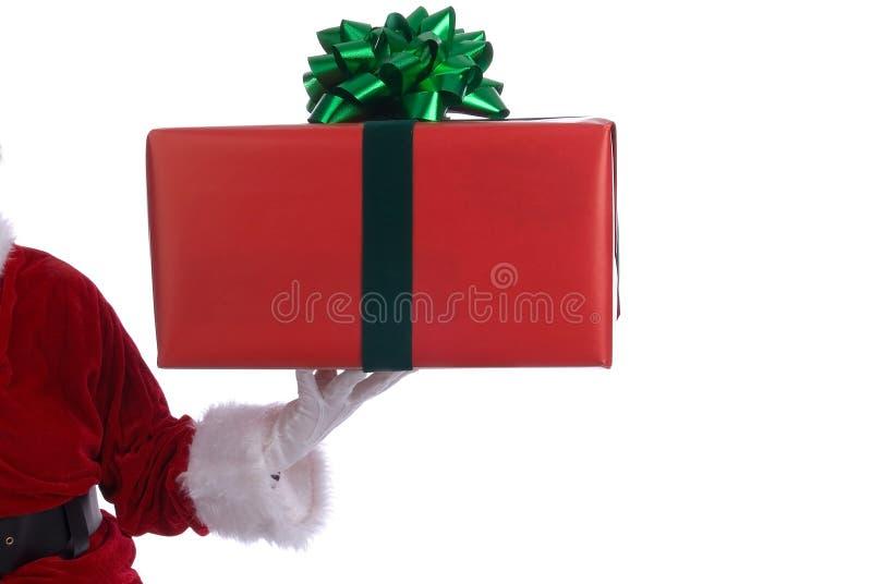 Santa claus prezent obraz royalty free
