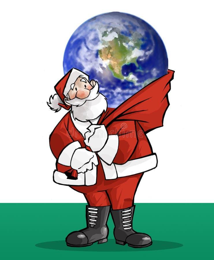 Santa claus prezent royalty ilustracja