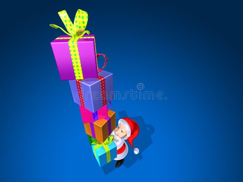 Santa claus prezenty ilustracja wektor