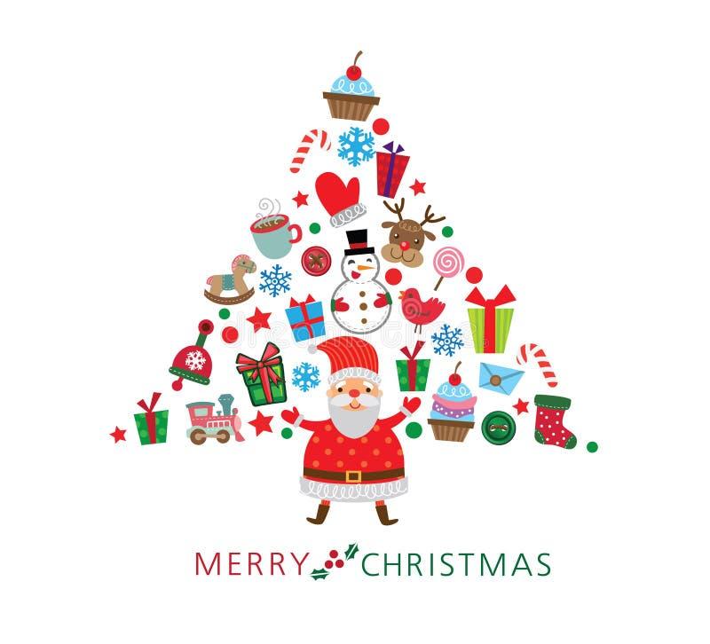 Santa claus prezenty ilustracji