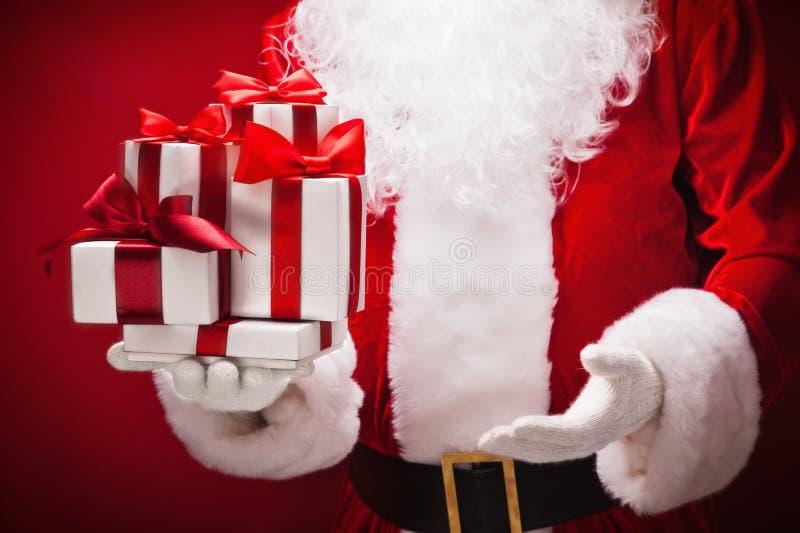 Santa claus prezenty zdjęcie stock