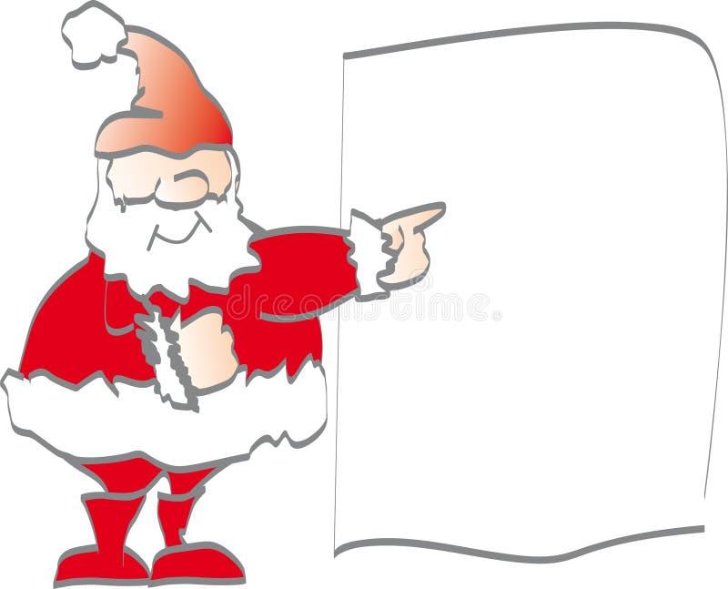 Santa claus promuje ilustracja wektor