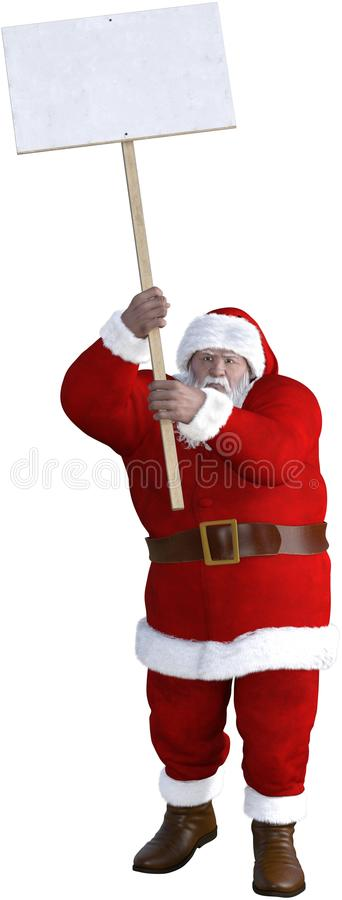 Santa Claus Protest Sign Isolated fotos de stock royalty free
